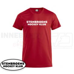 Trænings T-shirt - Stenbroens Hockey Klub - ICE-T rød
