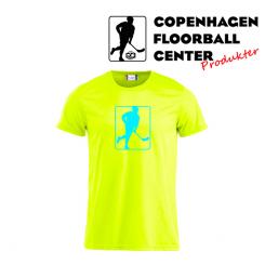 CFC T-shirt - Logo - Neon Gul, neon blå logo