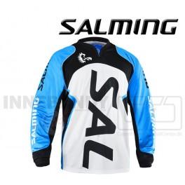 Salming Cross Målmandstrøje V-neck - hvid/sort/blå