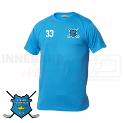 Trænings T-shirt - Stevns Floorball - Tyrkis