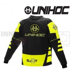 Unihoc Summit Målmandstrøje sort/neon gul