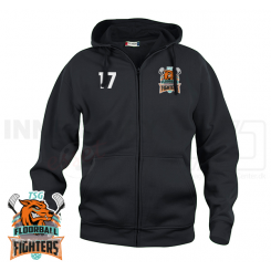 Hættetrøje m. lynlås - TSG Floorball Fighters  - Hoody Full Zip