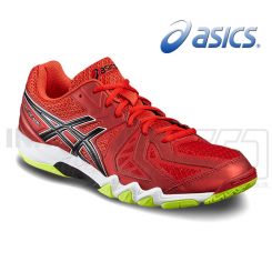 Asics Gel Blade 5 - Herre - red/black/neon yellow