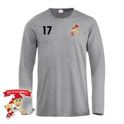 Offcourt Langærmet T-shirt - Grå - Jels IF Floorball