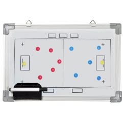 Whiteboard 30 x 45 - Floorball Taktiktavle - incl. pen og magneter