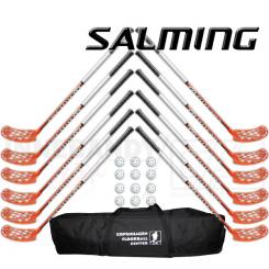 Salming Aero Z 32 stavsæt - 12 stave, 12 bolde og en stavtaske