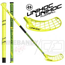 Unihoc Epic Super Top Light 26 neon yellow/black - Floorballstav