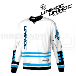 Unihoc Feather Målmandstrøje white/blue