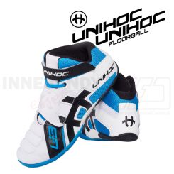 Unihoc U3 Goalie white/blue