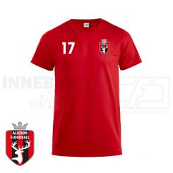 Trænings T-shirt - Allerød Floorball - ICE-T rød