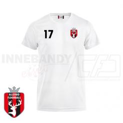 Trænings T-shirt - Allerød Floorball - ICE-T hvid