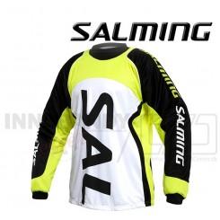 Salming Cross Målmandstrøje - hvid/sort/gul