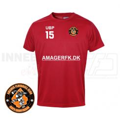 T-shirt - Amager Floorball Klub - ICE-T Rød