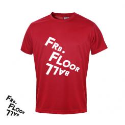 T-shirt Logo - Frederiksberg FC - ICE-T - Rød