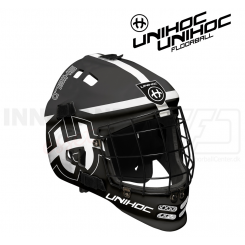 Unihoc Shield Målmandshjelm black/white - Junior