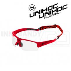 Unihoc Victory Eyewear Jr neon red / black