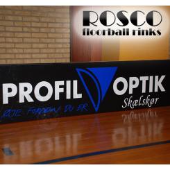 Rosco Floorball Bander - MotionsFloorball bane 10x20 meter, hvid - Inkl. Bandereklamer