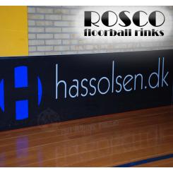 Rosco Floorball Bander - MotionsFloorball bane 10x20 meter, sort - Inkl. Bandereklamer