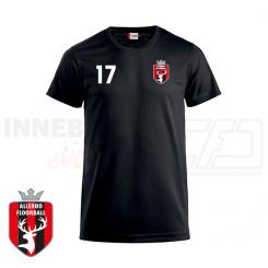 Trænings T-shirt - Allerød Floorball - ICE-T sort