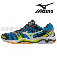 Mizuno Wave Stealth 4 Herre blue/white/yellow
