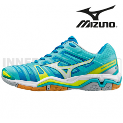 Mizuno Wave Stealth 4 Dame diva blue/white