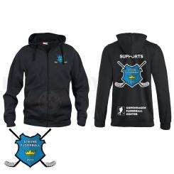 Support Hættetrøje m. lyn - Stevns Floorball - Hoody Full Zip
