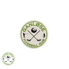 End cap med logo - Ganløse Floorball Klub