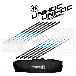 Unihoc Sniper Stavsæt 12 stave incl. 6 bolde og en stavtaske