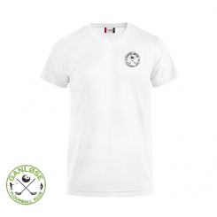 Trænings T-shirt - Ganløse Floorball Klub - ICE-T hvid