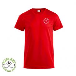 Trænings T-shirt - Ganløse Floorball Klub - ICE-T rød
