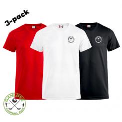 Trænings T-shirt - 3-pack - Ganløse Floorball Klub - ICE-T