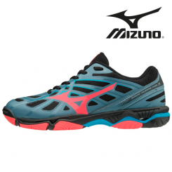 Mizuno Wave Hurricane 3 Dame blue/coral/black