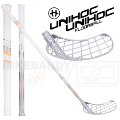Unihoc Sonic Super Top Light 29 white/silver - Floorballstav