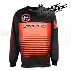 Unihoc Inferno Målmandstrøje black/neon orange