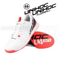 Unihoc U4 PLUS LowCut Men white / red