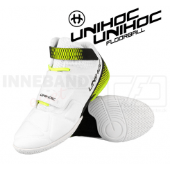Unihoc U4 Goalie Shoe white / neon yellow