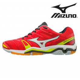 Mizuno Wave Stealth 4 Unisex red/white/yellow
