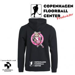 CFC Hættetrøje m. lynlås - Superseje Piger Spiller Floorball - Sort