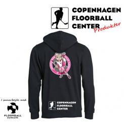 CFC Hættetrøje - Superseje Piger Spiller Floorball - Sort