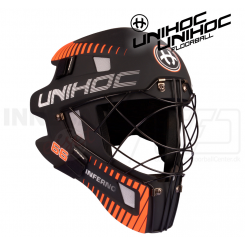 Unihoc Inferno 66 Målmandshjelm black/orange