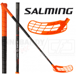 Salming Q1 TourLite Aero Kickzone 27 black/orange Oval