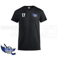 Trænings T-shirt - Blue Wings Floorball - ICE-T sort