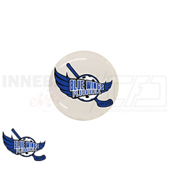 End cap med logo - Blue Wings Floorball