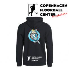 CFC Hættetrøje m. lynlås - Superseje Drenge Spiller Floorball - Sort