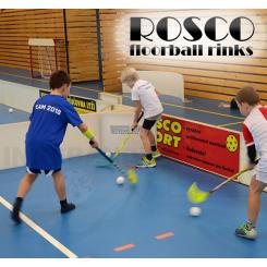Rosco Floorball Bande Stykker - 4 stk. Splitter Hjørner, hvid