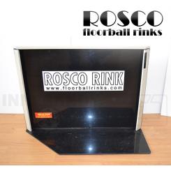 Rosco Floorball Bande Stykker - 4 stk. Splitter Hjørner, sort