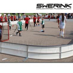 Swerink Floorball Bander, hvid - Fullsize bane 20x40 meter