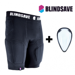 Blindsave Protection Shorts PRO + Cup - black