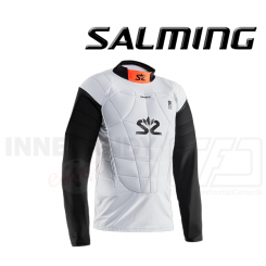 Salming Goalie Protectiv Vest E-Series - White/Orange