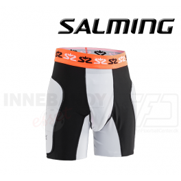 Salming Goalie Protectiv Shorts E-Series - White/Orange/Black